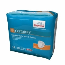 Walgreens Certainty Fitted Briefs X Large