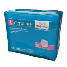 Walgreens Certainty Women's Underwear Moderate Absorbency X Large