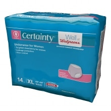 Walgreens Certainty Women's Underwear, Max Absorbency X Large