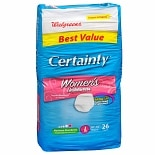Walgreens Certainty Women's Underwear Max Absorbency Large Large