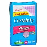 Walgreens Certainty Women's Underwear Max Absorbency Small/Medium Small Medium