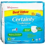 Walgreens Certainty Unisex Underwear Maximum Large