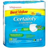 Walgreens Certainty Unisex Underwear Maximum