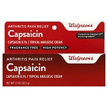 Walgreens Capsaicin Arthritis Pain Relief Cream High Potency Strength