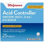 Walgreens Acid Controller/Acid Reducer Tablets Maximum Strength