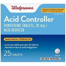 Walgreens Acid Controller/Acid Reducer Tablets