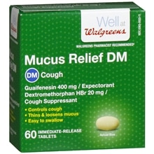 Walgreens Mucus Relief DM Expectorant/Cough Suppressant Tablets