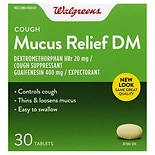 Walgreens Mucus Relief DM Cough Immediate-Release Tablets