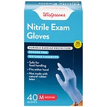 Walgreens Premium Nitrile Medical Exam Gloves One Size Fits Most
