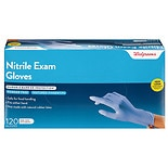 Walgreens Premium Nitrile Medical Exam Gloves One Size Cobalt