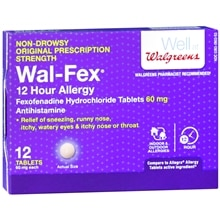 Walgreens Wal-Fex 12 Hour Allergy Relief Tablets