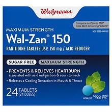 Wal-Zan 150 Acid Reducer Tablets, Cool Mint