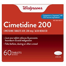 Walgreens Cimetidine 200 Acid Reducer Tablets