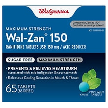 Walgreens Wal-Zan 150 Acid Reducer Tablets Mint