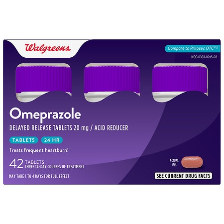 Walgreens Omeprazole Acid Reducer, 20mg Tablets