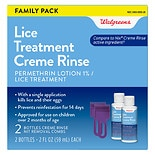 Walgreens Lice Treatment Creme Rinse 2 pack