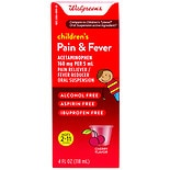 Walgreens Children's Pain Relieve Suspension Liquid Cherry