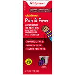 Walgreens Children's Pain Relieve Suspension Liquid Grape