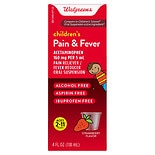 Walgreens Children's Pain Relief Suspension Liquid Strawberry Strawberry