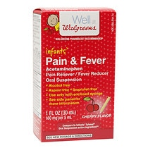 Infants' Pain & Fever Suspension Liquid, Cherry Flavor