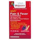 Walgreens Infants' Pain & Fever Suspension Liquid Grape Flavor