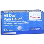 Walgreens All Day Pain Relief Naproxen Sodium 220mg, Tablets