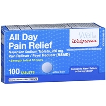All Day Pain Relief Naproxen Sodium 220mg, Tablets