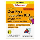 Walgreens Children's Ibuprofen 100 Oral Suspension 2 Pack Dye-Free Berry Berry Flavor