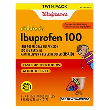 Children's Ibuprofen 100 Oral Suspension 2 Pack, Berry Flavor