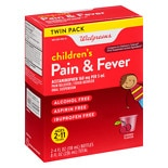 Walgreens Children's Pain Relief Suspension Liquid 2 Pack Cherry Flavor