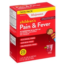 Walgreens Children's Pain Relief Suspension Liquid 2 Pack Cherry