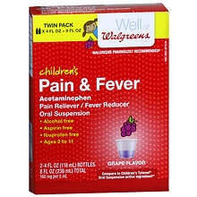 Walgreens Children's Pain Relief Suspension Liquid 2 Pack Grape Flavor