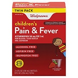 Walgreens Children's Pain Relief Suspension Liquid 2 Pack Strawberry Strawberry Flavor
