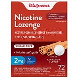 Walgreens Nicotine Stop Smoking Aid Lozenges 2 mg Cinnamon Flavor