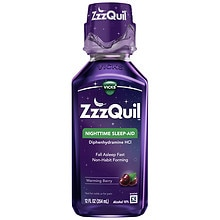 ZzzQuil Nighttime Sleep-Aid Liquid Warming Berry Warming Berry Flavor