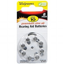 Walgreens Hearing Aid Batteries, Zero Mercury #10
