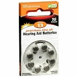Walgreens Hearing Aid Batteries#13 Size 13