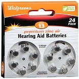 Walgreens Size 13 Premium Zinc Air Hearing Aid Batteries 24 Pack Size 13