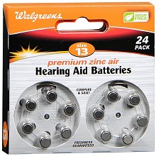 Size 13 Premium Zinc Air Hearing Aid Batteries 24 Pack, Size 13
