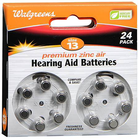 Walgreens Hearing Aid Batteries, Zero Mercury #13