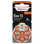 Walgreens Premium Zinc Air Hearing Aid Batteries Size 13