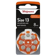 Premium Zinc Air Hearing Aid Batteries#13, Size 13