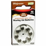 Walgreens Hearing Aid Batteries#312 Size 312