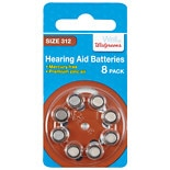Walgreens Premium Zinc Air Hearing Aid Batteries Size 312