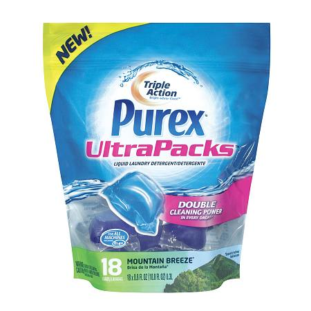 Purex UltraPacks Liquid Laundry Detergent Mountain Breeze