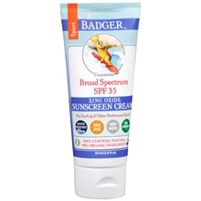 Badger Broad Spectrum Sport Sunscreen, SPF 35 Unscented