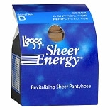 L'eggs Sheer Energy Control Top Reinforced Toe Pantyhose B Suntan