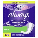 Always Dri-Liners Pantiliners Unscented Jumbo Pack Long