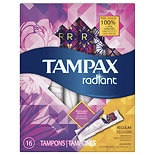 Tampax Radiant Tampons with Plastic Applicators Unscented