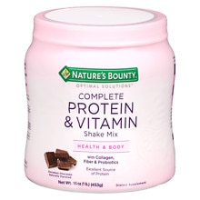 Optimal Solutions Complete Protein & Vitamin Shake Mix Dietary Supplement Powder Chocolate